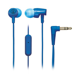Audio-Technica ATH-CLR100ISBL SonicFuel In-Ear Headphones with Mic (Blue)_1