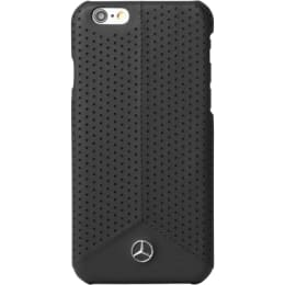 Mercedes Perforated PU Leather Hard Back Case Cover for Apple iPhone 6S Plus (SW-287, Black)_1