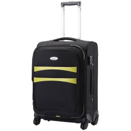 Sky Bags Nevada Polyester Trolley Bag (STNAVW57BLK, Black)_1