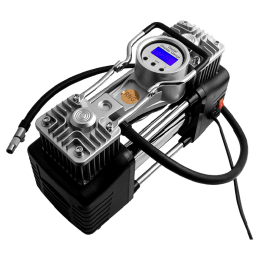 RNG Eko Green Triple High Speed Digital Double Cylinder Nuclear Car Air Compressor (RNG 1305S, Black/Silver)_1