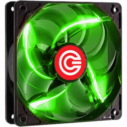 Circle USB Wired 4 LED 90 CFM Gaming Fan (CG 12LED GN, Green)_1