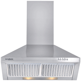Eurodomo Sapphire 850 m³/hr 60cm Wall Mount Chimney (Push Button, PB BF SS 60, Silver)_1