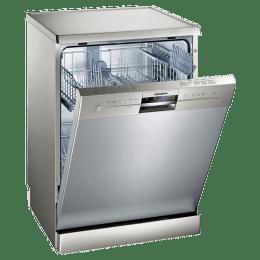 Siemens iQ500 12 Place Setting Freestanding Dishwasher (HygienePlus Function, SN256I01GI, Steel)_1