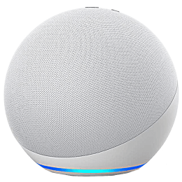 Amazon Echo Dot 4th Gen Alexa Built-in Smart Speaker (Powerful Bass, B084L41R96, White)_1