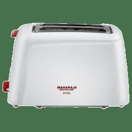 Maharaja Whiteline Viva 750 Watt 2 Slice Pop Up Toaster (5200000697, White)_1