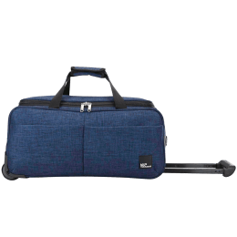 VIP Mamba Polyester Duffel Trolley Bag (Ideal for Luggage, DFTMAMH55BLU, Blue)_1