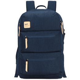 VIP Ride 02 19 Litres Polyester Casual Backpack (3 Front Pockets, BPRID02DBL, Denim Blue)_1