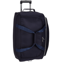 Skybags Cardiff 39 Litres Polyester Duffel Trolley Bag (Butterfly Lock, DFTCA52EBLU, Blue)_1