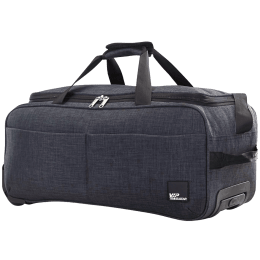 VIP Mamba Polyester Duffel Trolley Bag (Ideal for Luggage, DFTMAMH55BLK, Black)_1