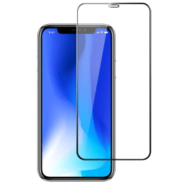 Stuffcool Mighty 2.5D Tempered Glass Screen Protector for Apple iPhone XS/11 (MGGP25DIP58, Black)_1