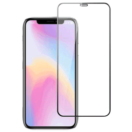 Stuffcool Mighty 3D Curved Tempered Glass Screen Protector for Apple iPhone XS/X (MGGP3DIP58, Black)_1