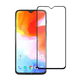 Stuffcool Mighty 2.5D Tempered Glass Screen Protector for OnePlus 6T (MGGP25DOP6T, Black)_1