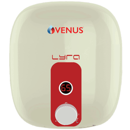 Venus Lyra Smart 10 Litres 5 Star Storage Water Geyser (2000 Watts, 10RX, Ivory/Red)_1