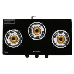 Faber 3 Burner Glass Gas Stove (Stainless Steel Drip Tray, Grand 3BB BK, Black)_1