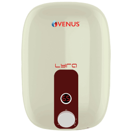 Venus Lyra Smart 15 Litres 5 Star Storage Water Geyser (2000 Watts, 15RX, Ivory/Red)_1