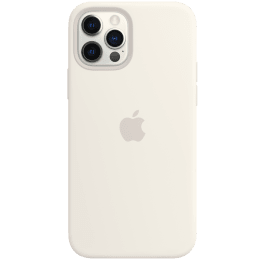 Apple Silicone Back Case For iPhone 12 and iPhone 12 Pro (Magsafe Charging Accessibility, MHL53ZM/A, White)_1