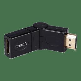 Croma XN4076 360 Degree HDMI (Type-A) to HDMI (Type-A) Cable (W1482, Black)_1