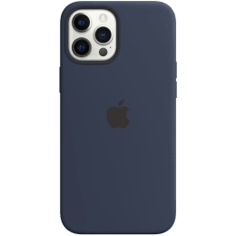 Apple Silicone Back Case For iPhone 12 Pro Max (Magsafe Charging Accessibility, MHLD3ZM/A, Deep Navy)_1