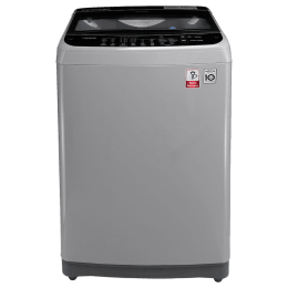 LG 10 kg Fully Automatic Top Loading Washing Machine (T2077NEDLG, Silver)_1