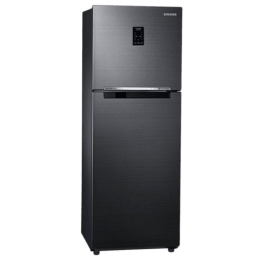 Samsung 253 L 3 Star Inverter Frost Free Double Door Inverter Refrigerator (RT28M3743BS/NL, Black, Convertible)_1