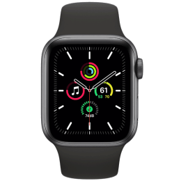 Apple Watch SE Smartwatch (GPS, 40mm) (Heart Rate Monitoring, MYDP2HN/A, Space Grey/Black, Sport Band)_1