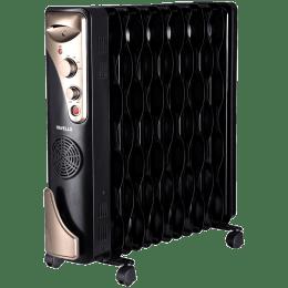 Havells 2400 Watts Tubular and PTC Oil Filled Fan Room Heater (Thermostatic Heat Control, GHROFBFK290, Black)_1