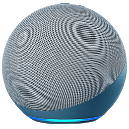 Amazon Echo Dot 4th Gen Alexa Built-in Smart Speaker (Powerful Bass, B084KSRFXJ, Blue)_1