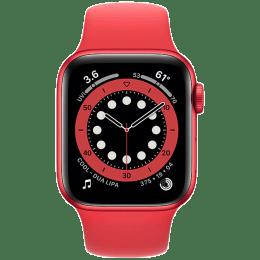 Apple Watch Series 6 Smartwatch (GPS+Cellular, 40mm) (Blood Oxygen Sensor, M06R3HN/A, Red, Sport Band)_1
