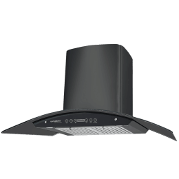 Eurodomo Classy 1200 m³/hr 90cm Wall Mount Chimney (Auto Clean, HC TC 90, Black)_1