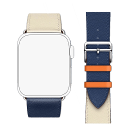 Robobull Buckle Closure 42/44 mm Double Tour Leather Apple Watch Strap (3770000064, Midnight)_1