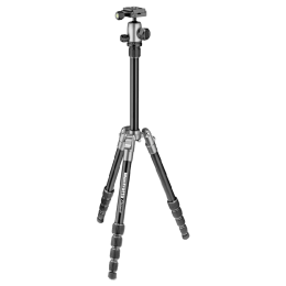 Manfrotto 127.5 cm Height Traveller Tripod Small with Ball Head (MKELES5GY-BH, Grey)_1