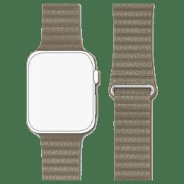 Robobull 42/44 mm Leather Loop Apple Watch Strap (3770000051, Beige)_1