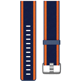 Fitbit Versa Buckle Closure Large Band (FB166WBNVTAL, Navy/Orange)_1