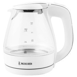 RNG Eko Green 1.5 Litres 2200 Watts Electric Kettle (Detachable Base, Auto Switch Off, RNG 1519, White)_1