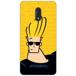 The Souled Store Johnny Bravo - Stud Polycarbonate Mobile Back Case Cover for Nokia 6 (72182, Metallic Yellow/Black)_1