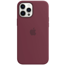 Apple Silicone Back Case For iPhone 12 Pro Max (Magsafe Charging Accessibility, MHLA3ZM/A, Plum)_1