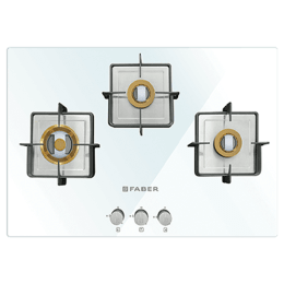 Faber 3 Burner Toughened Glass Built-in Gas Hob (Auto Ignition, HTG 753 CRS BR CI WH, White)_1