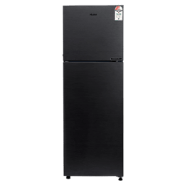 Haier 258 Litres 2 Star Frost Free Double Door Refrigerator (5-in-1 Convertible, HRF-2783BKS-E, Black Brushline)_1