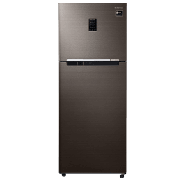 Samsung 386 Litres 3 Star Frost Free Digital Inverter Technology Double Door Refrigerator (Curd Maestro, 5-in-1 Convertible Mode, RT39T5C3EDX/TL, Luxe Brown)_1