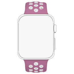 Robobull 42/44 mm Nike Sports Apple Watch Strap (3770000093, Pink)_1