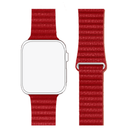 Robobull 42/44 mm Leather Loop Apple Watch Strap (3770000050, Bold Red)_1