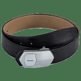 Leather Talks Smart Belt (LT/SR/002, Black/Silver)_1
