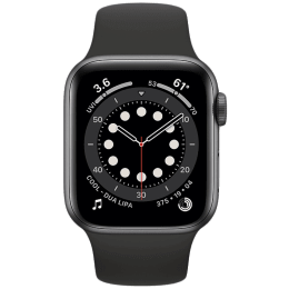 Apple Watch Series 6 Smartwatch (GPS+Cellular, 40mm) (Blood Oxygen Sensor, M06P3HN/A, Space Grey/Black, Sport Band)_1