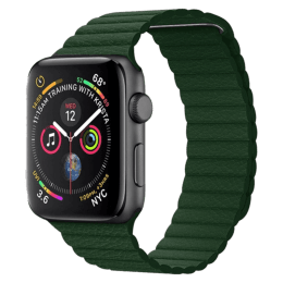 Robobull 42/44 mm Leather Loop Apple Watch Strap (3770000074, Green)_1