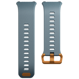 Fitbit Ionic Buckle Closure Small Smart Band Strap (FB164ABCPBUS, Blue/Copper)_1
