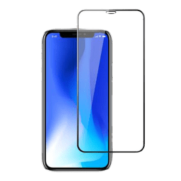 Stuffcool Mighty 3D Curved Tempered Glass Screen Protector for Apple iPhone XS Max (MGGP3DIP65, Black)_1