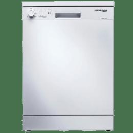 Voltas Beko 14 Place Setting Freestanding Dishwasher (Water Softening System, DF14W, White)_1