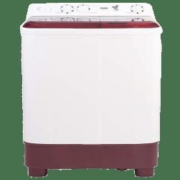 Haier 6.2 kg Semi Automatic Top Loading Washing Machine (HTW62-1187BT, Burgundy)_1
