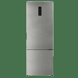 Haier 345L 3 Star Frost Free Double Door Bottom Mount Inverter Refrigerator (HRB-3654PSSE, Stainless Steel)_1