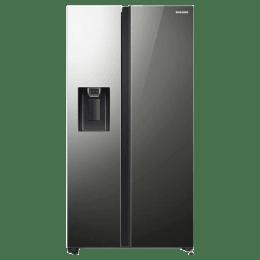 Samsung 676 L Side-by-Side Inverter Refrigerator (RS74R53012A/TL, Mirror Black)_1